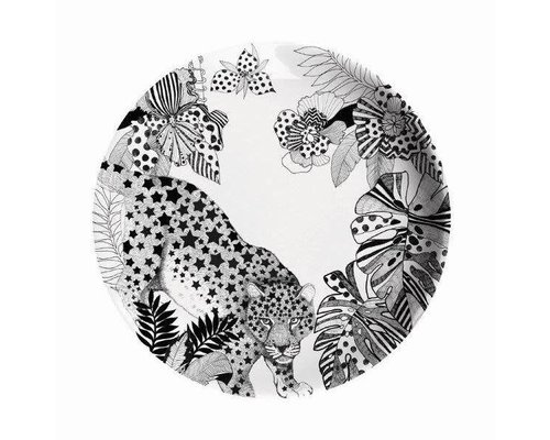 My World Too Leopard Melamine Lunch Plate
