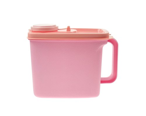 Plastic Kitchen Canister Pink