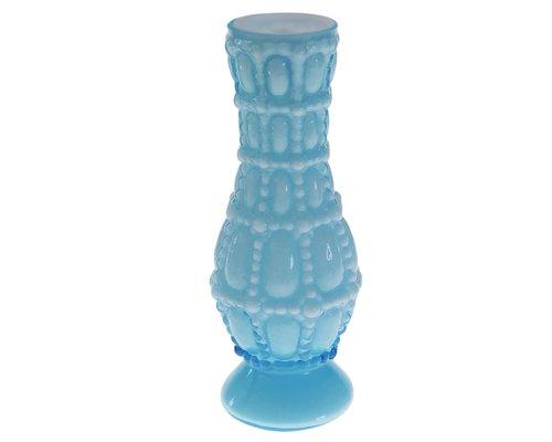 Large Glass Vase Vintage Style - Opal Sky Blue
