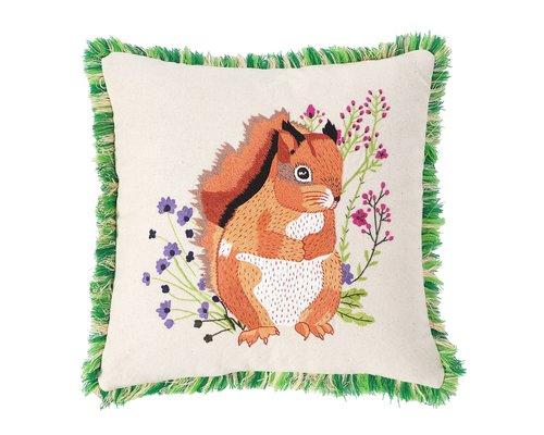 Forest Life Cushion - Squirrel