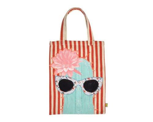 Cactus&Shades Tote Bag - red