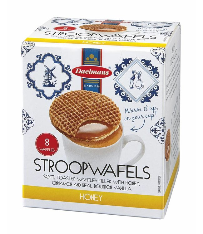 Daelmans Honey Stroopwafels in Cube Box