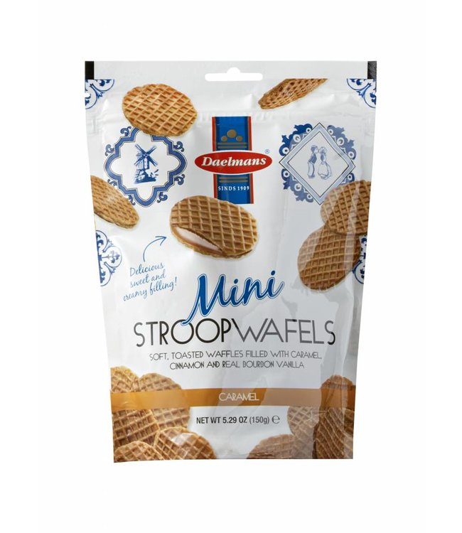 Daelmans Caramel Mini Stroopwafels in Zip Bag