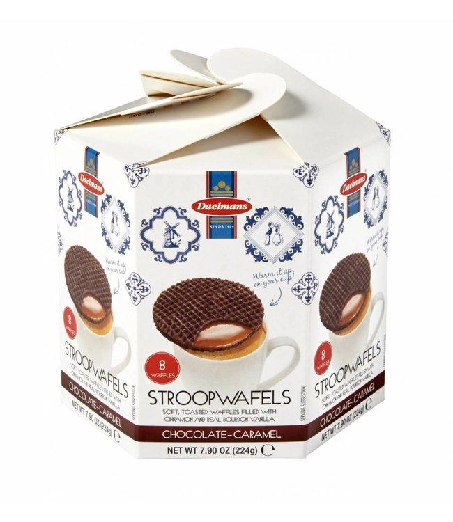 Daelmans Chocolate Stroopwafels in Hexa Box
