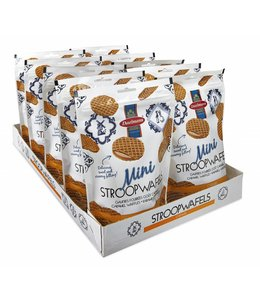 Daelmans Caramel Mini Stroopwafels in Zip Bag - Case of 10