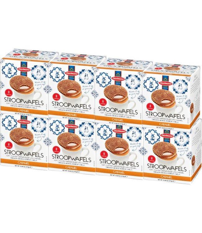 Daelmans Caramel Stroopwafels in Cube Box - Case of 8
