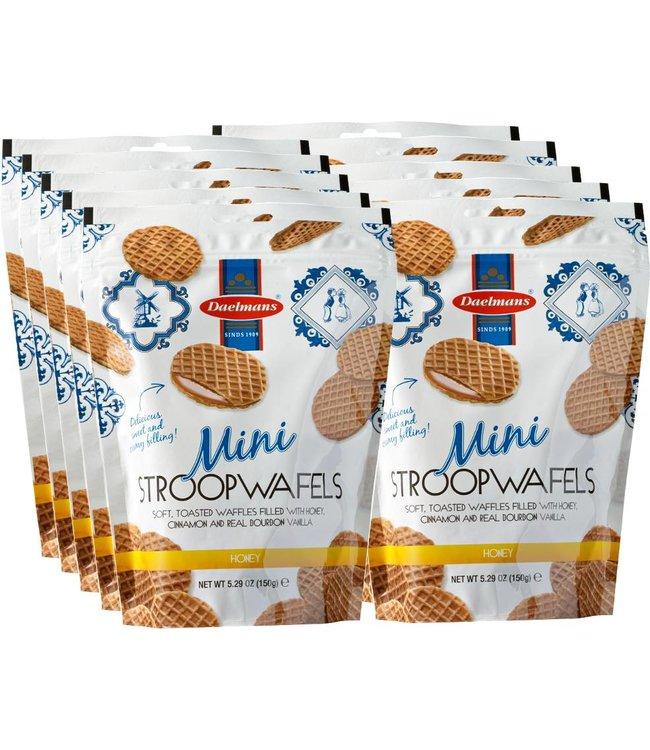 Daelmans Honey Mini Stroopwafels in Zip Bag - Case of 10