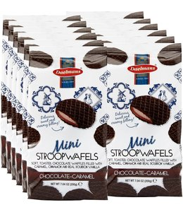 Daelmans Chocolate Mini Stroopwafels in Cello Bag - Case of 12