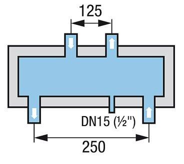 Hydraulische Weiche inkl. Isolierung