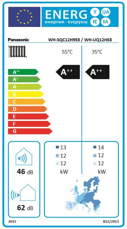 Aquarea T-CAP, Generation 'H Super Quiet Splitsystem WH-SQC12H9E8 / WH-UQ12HE8