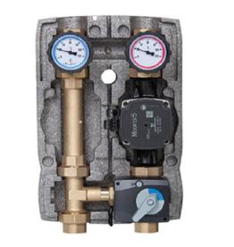 Set 1'' + Pumpe, 3-Wege-Mischer,  Mischermotor