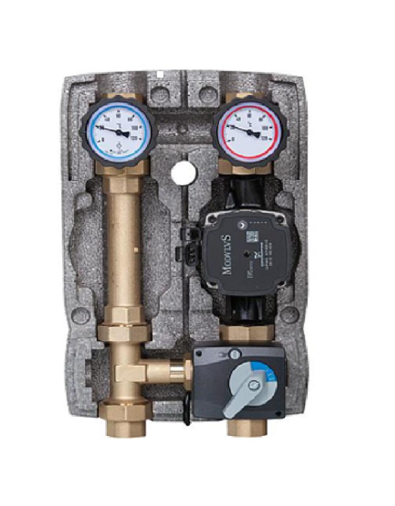 Heizkreisset 1'' + Pumpe + 3-Wege-Mischer + Mischermotor
