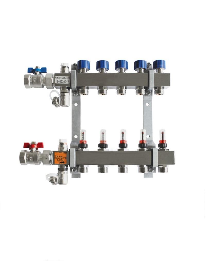 Edelstahlverteiler für Flächenheiz- und Kühlsysteme