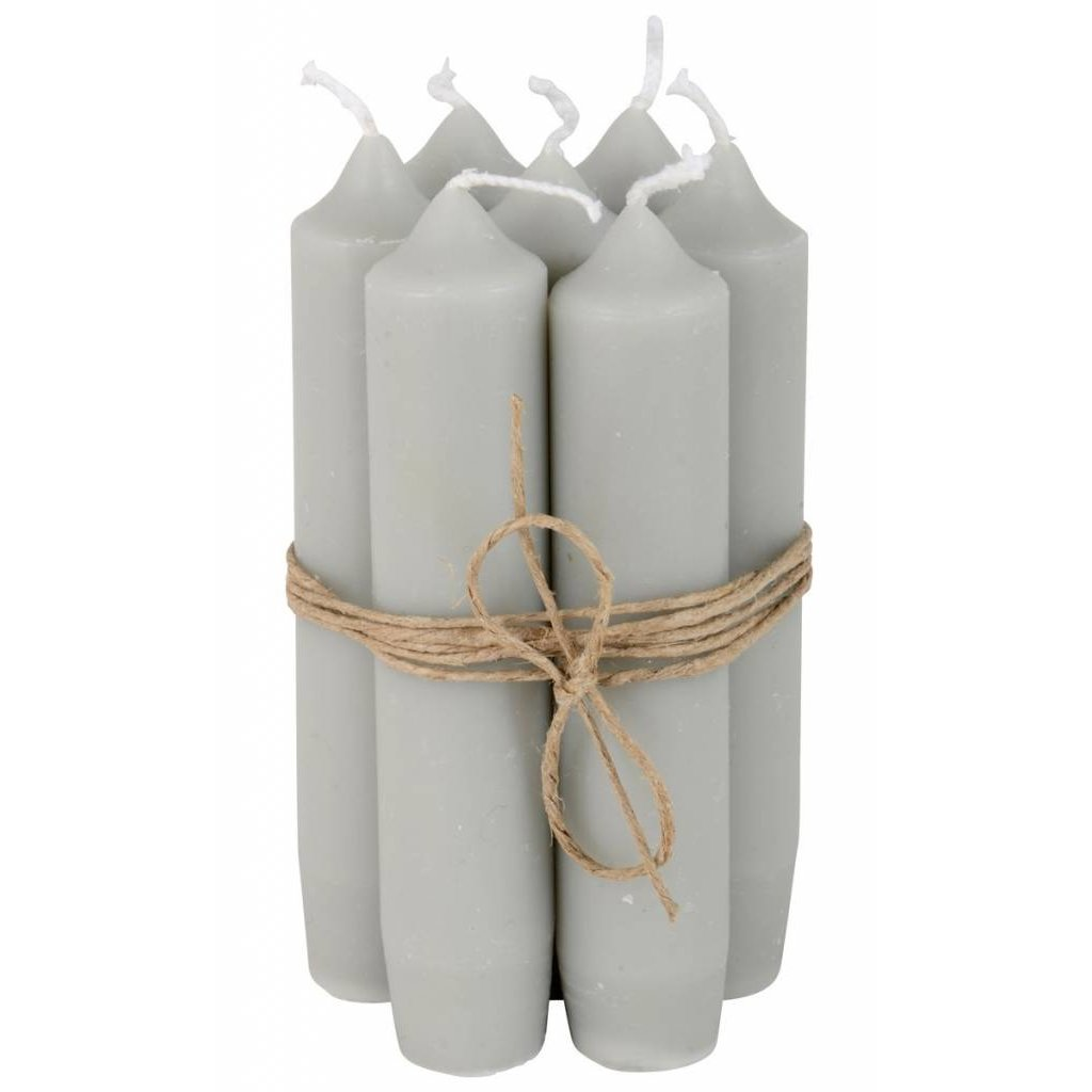Short dinner candle grey 7st