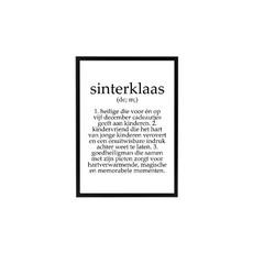 Sinterklaas Poster tekst