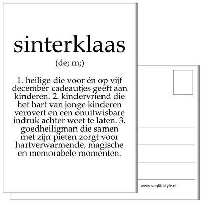Kaart Sinterklaas tekst