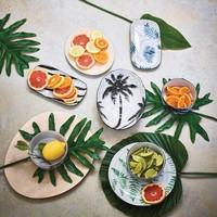 HK Living porcelain kommetje Palms