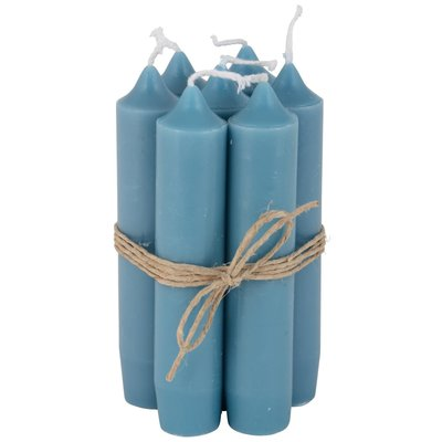 Short candle petrol blue 7st