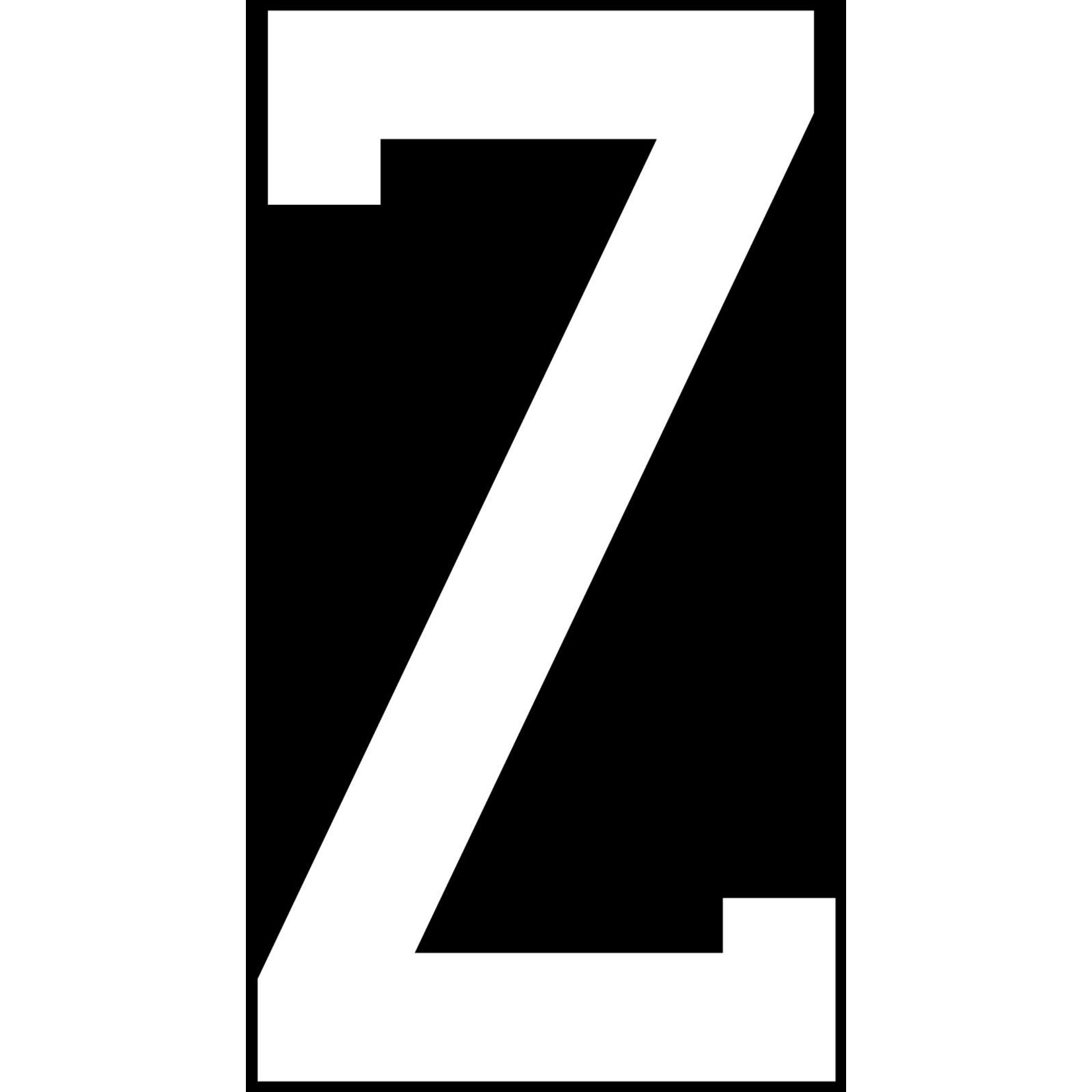 Poster Z XXL Zwart