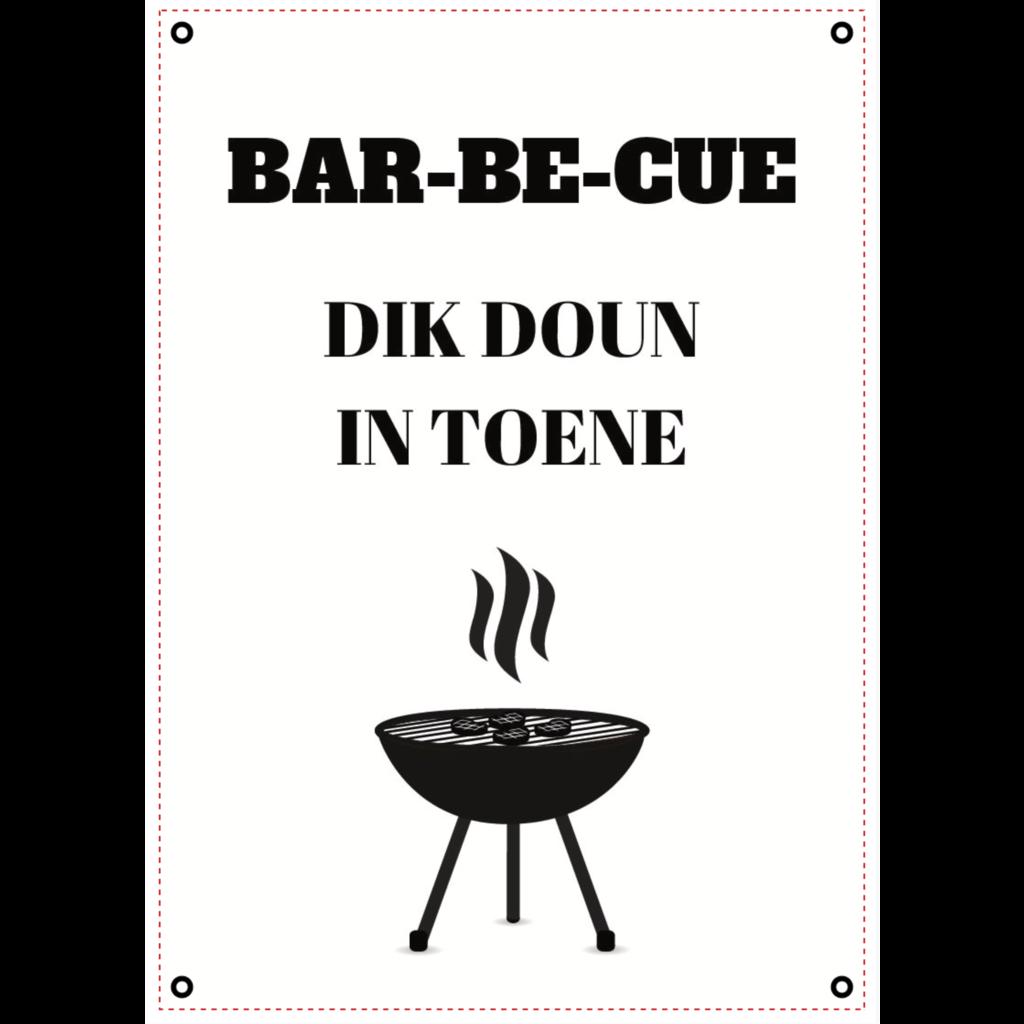 Tuinposter BBQ