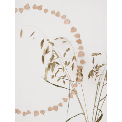Twig leaves Blushing beige