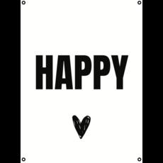 Tuinposter Happy