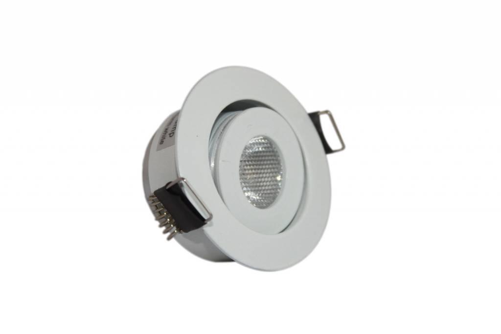 Ledika LED Inbouwspot zilver 3W warm wit dimbaar