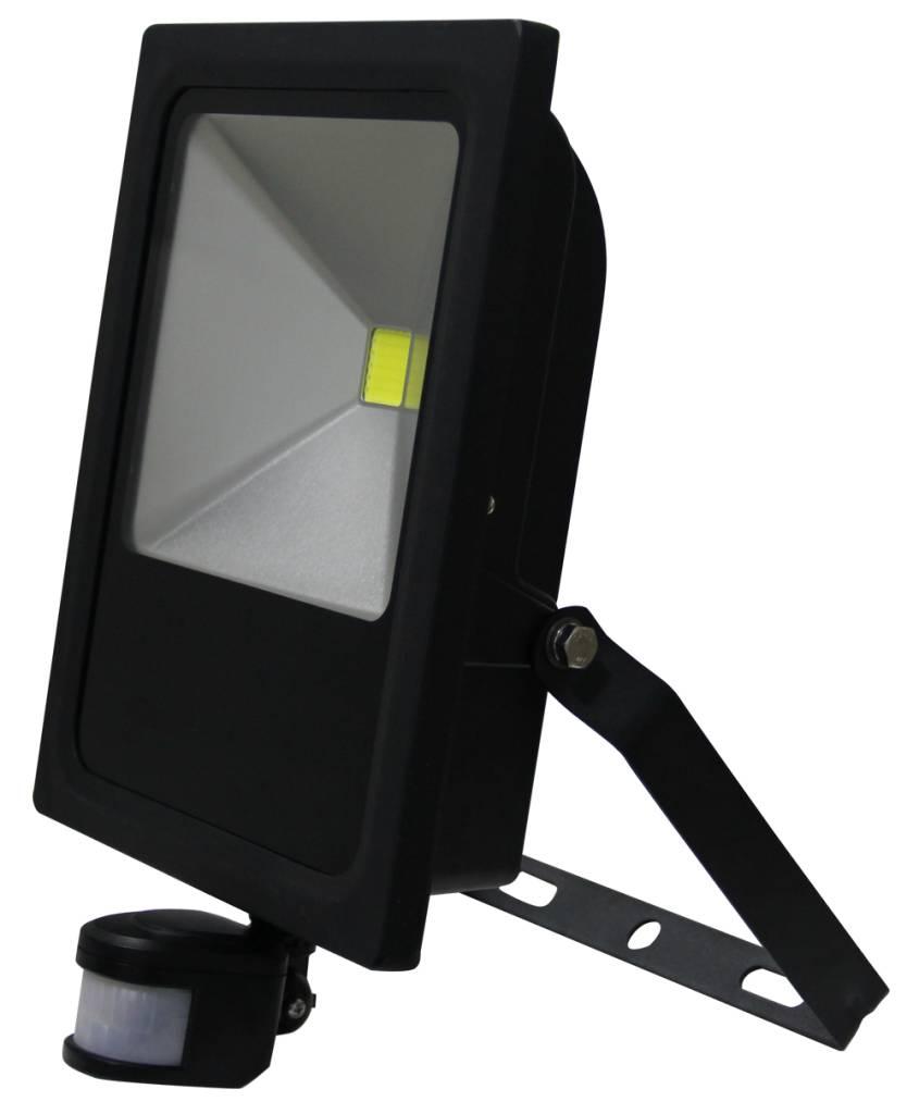 Voorkeur LED Schijnwerper 50W 3500lm IP65 externe PIR sensor daglicht wit EW18