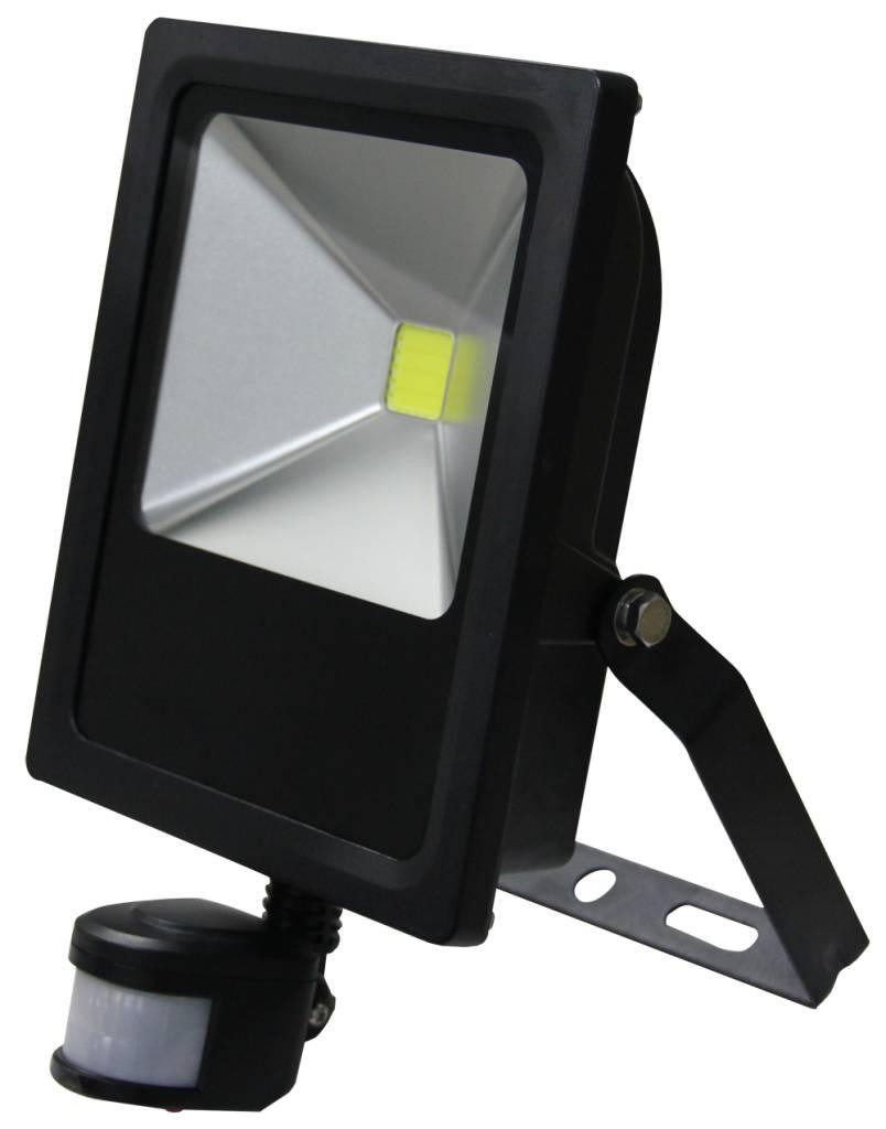 Super LED Schijnwerper 30W 2100lm IP65 externe PIR sensor daglicht wit BU92