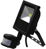 Ledika LED Schijnwerper 10W 700lm IP65 externe PIR sensor daglicht wit