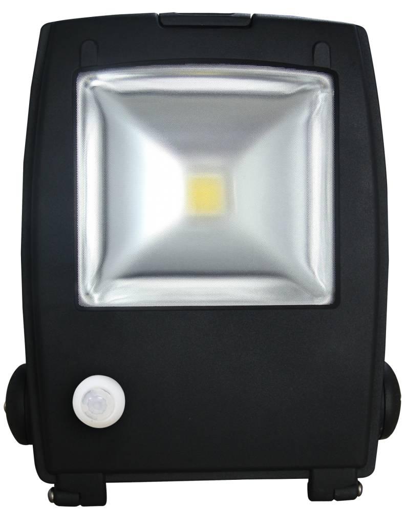 Extreem LED Schijnwerper 70W 4900lm IP65 interne PIR sensor daglicht wit RF88