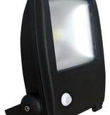 Ledika LED Schijnwerper 20W 1400lm IP65 interne PIR sensor daglicht wit