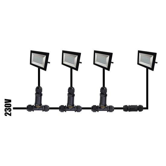 Ledika LED Schijnwerper - Voor buiten - 30 W- IP65 - Zwart - 4000K - IP65 - 2 jaar Neutraal wit