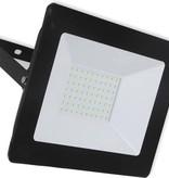 Ledika LED Schijnwerper - Voor buiten - 50 W- IP65 - Zwart - 4000K - IP65 - 2 jaar Neutraal wit