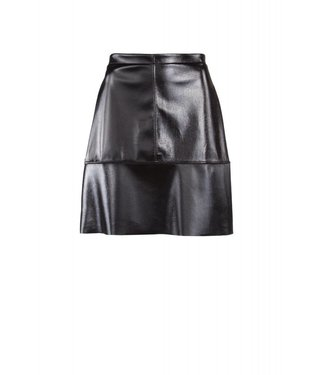 Juffrouw Jansen ELLIS W18/la623 short lak skirt black 999