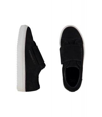 Penn&Ink W18-Velcro-N Shoe Velcro Nubuck black 90