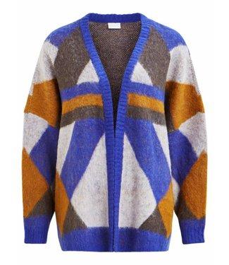Vila 14049373 Viwonda knit l-s coatigan Clematis blue