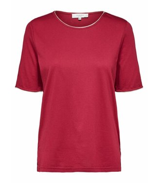 Selected Femme 16061027 SLFLUCY ss tee B Beet red