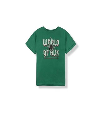 Alix 185852813-732 ladies knitted boxy t-shirt Green