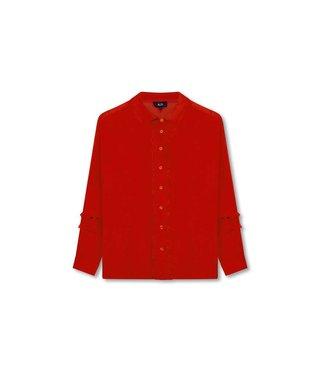 Alix 185929753-501 ladies woven blouse Orange red