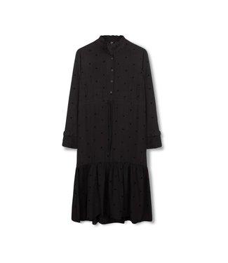 Alix 185330755-999 ladies woven bull long dress Black