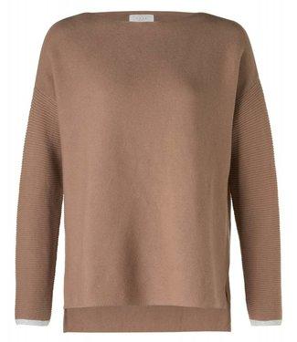 Yaya 100030-822N Basic knit sweater Toffee