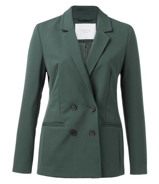 Yaya 150102-822 Sporty double breasted blazer Jade green