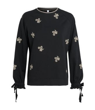 Summum 3s4186-3980 Top embroidered sweater 990-black