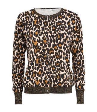 Summum 7s5343-7670 Cardigan leopard print 734-Camel