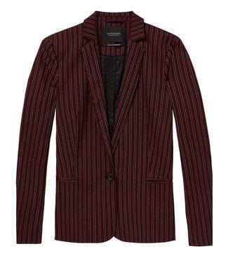Maison Scotch 146290-17 Classic tailored blazer in stripes