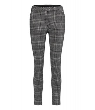 Penn&Ink W18F378 trousers check black/white 90/01