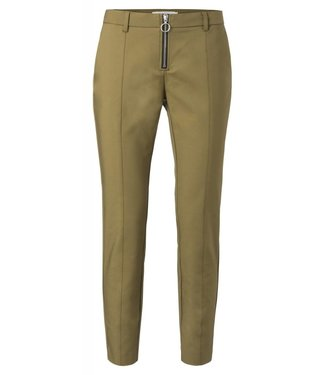 Yaya 121100-823 Pantalon w zipper fly Moss green