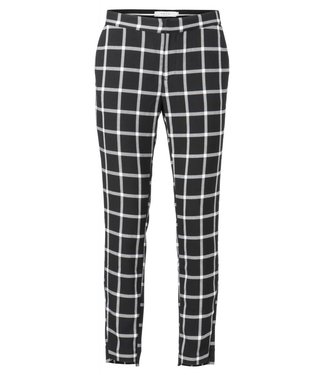 Yaya 121105-823 Slim fit 7/8 check pantalon Black dessin