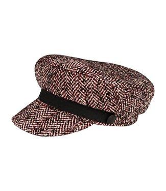 Maison Scotch 147450 Blogger cap in menswear pattern